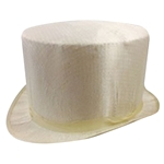 Silk Top Hat WHITE