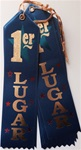 2in x 8in Spanish BLUE 1er LUGER Ribbon