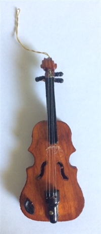 4in Wood Violin Ornament