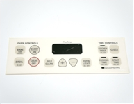 GE WB27K10131 Oven Control Overlay Bisque