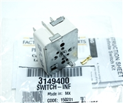 Whirlpool Kenmore Range Infinite Switch WP3149400