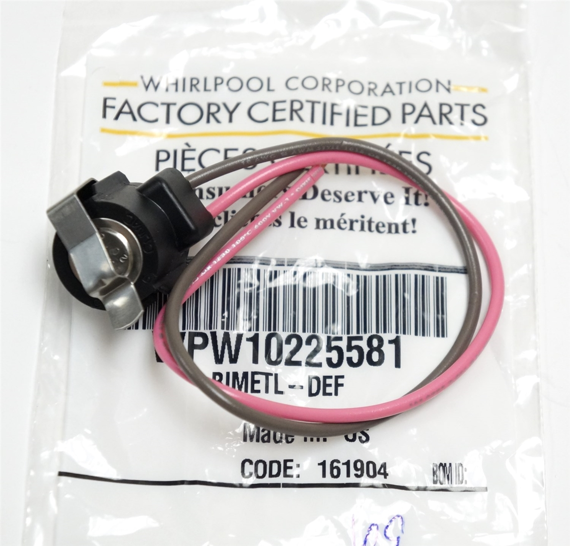 Amana WPW10225581 Defrost Thermostat