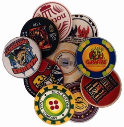 Sample of Custom Ceramic Poker Chips