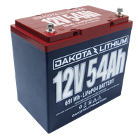 Dakota Lithium 12V 54Ah Battery