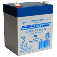 POWERSONIC 12V 5AH F2 PS-1250