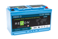 ReLion RB80-D 12V 80Ah DIN LiFePO4 Battery