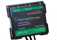 DUAL PRO Charging Systems - Recreational/Industrial Series RS2/IS2 Two 6 Amp Bank 6 Amps 12V