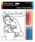 WWII Posters Postcards to Color and Send