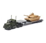 1:43 Scale Kenworth Military Lowboy with Tank
