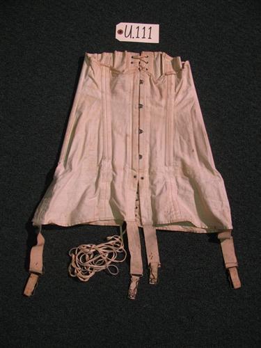1930's Period, U.S., Woman's, Off White Color, Corset