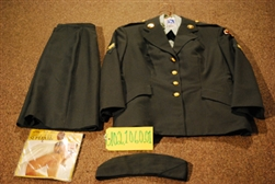 "1988 Dated, Desert Storm Period, US Army, ""Coat, Woman's, Classic Design, Poly/Wool"", Belonging To A WAC Woman, Specialist 4, Serving In The 7th Medical Command"