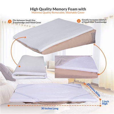 Memory Foam Topper for Small-Size Travelwedge