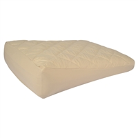 Small-Size Inflatable Bed Wedge with Memory Foam Topper and Foot Pump