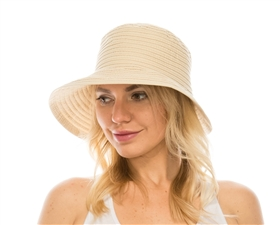 wholesale facesaver hat - split back bow ribbon hat