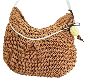 wholesale crochet straw mini purse