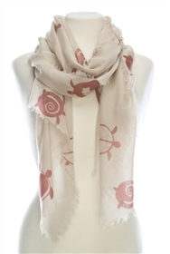 Wholesale Cotton Summer Scarves - Sea Turtles