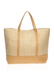 wholesale straw totes - toyo tote bags 2-tone