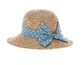 wholesale kids straw hats - sun hat with bow