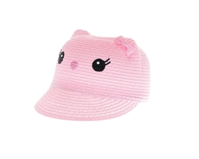 wholesale kids kitty caps - cat ears hat straw