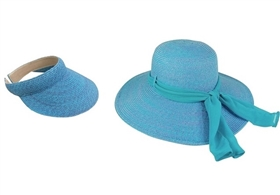 wholesale speckled color sun straw hat visor set
