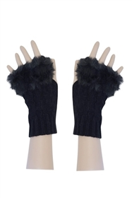 Wholesale Fingerless Gloves with Fur Edge