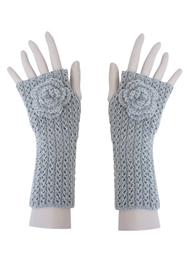Wholesale Fingerless Gloves with Rosette