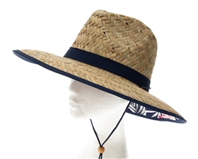 wholesale straw lifeguard hats hawaii hibiscus flowers