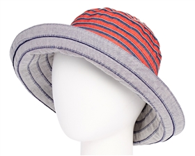 Ribbon Hats - Packable Kettle Hat - Nautical Stripes