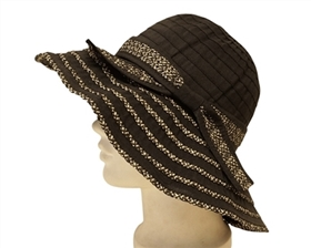 Sun Hats - Packable Ribbon with Straw Blend