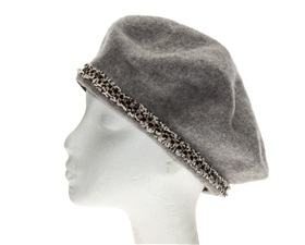 Winter Berets - Wool Hats Sparkly Band