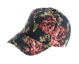 wholesale fashion floral brocade fabric baseball hats - womens winter caps