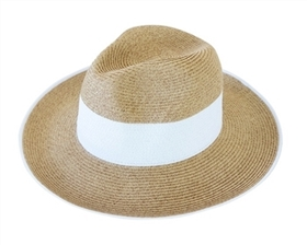 Wholesale Women's Panama Hats - Straw with Colorblock
