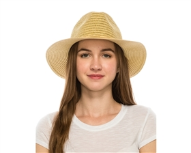 Wholesale Straw Panama Hats - Gold or Silver