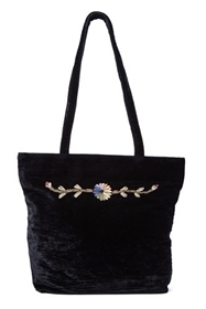 wholesale velvet tote bag purse embroidery