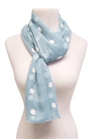 wholesale polka dot scarf with embroidery