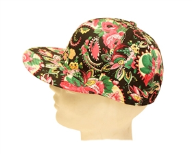 wholesale womens snapback hat flowers beach cap