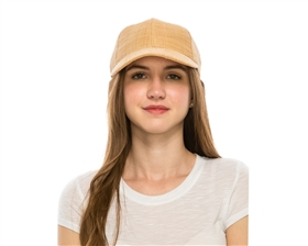 wholesale womens straw baseball hats - raffia straw cap