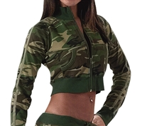 Rothco Ladies Woodland Camouflage Zip-Up Sweatshirt - 1018