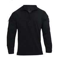 Rothco Black Zip Combat Shirt - 10216