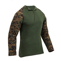 Rothco Woodland Digital Camo Zip Combat Shirt - 10224