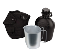 Rothco Black 3 Piece Canteen Kit - 1141