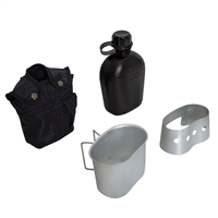Rothco Black 4 Piece Canteen Kit - 1144