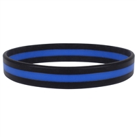 Rothco Silicone Thin Blue Line Bracelet 1180