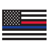 Rothco Thin Red and Blue Line Flag Decal 1292