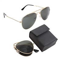 Rothco Gold Folding Sunglasses - 13220