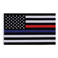 Rothco Thin Red and Blue Line US Flag 14456