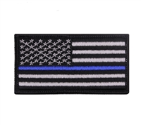 Rothco Thin Blue Line US Flag Patch - 1709