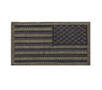 Rothco Olive Black Reverse American Flag Patch - 17786