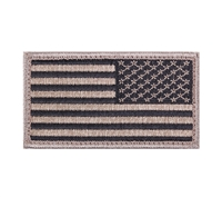 Rothco Khaki Black American Flag Patch - 17787