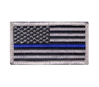 Rothco Thin Blue Line Police US Flag Patch - 17789